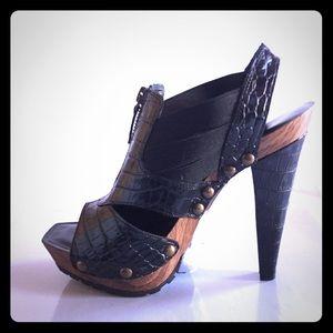"Jessica Simpson Black 4"" High Heel Sandal Size-7"